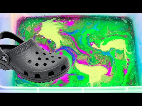 Hydro Dipping CROCS! (Giveaway!!!!)