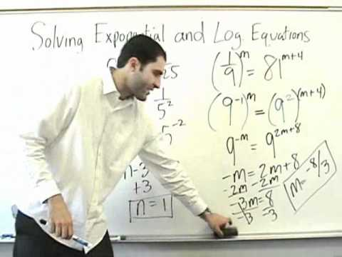Algebra 2 - Exponential Equations and Intro to Logs