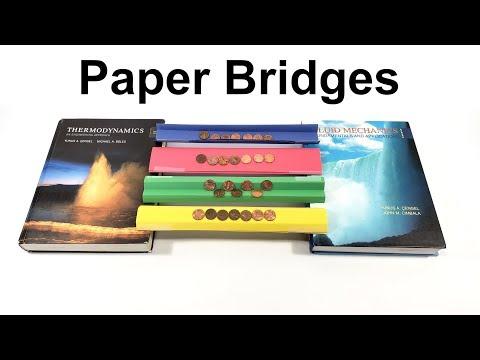 Paper Bridges STEM Activity