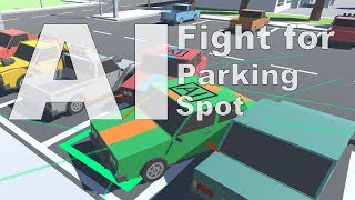 Two AI Fight for the same Parking Spot