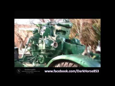 3.7 Inch Anti Air Craft Gun on Display in Anglesea Barracks Hobart Tasmania    30062015