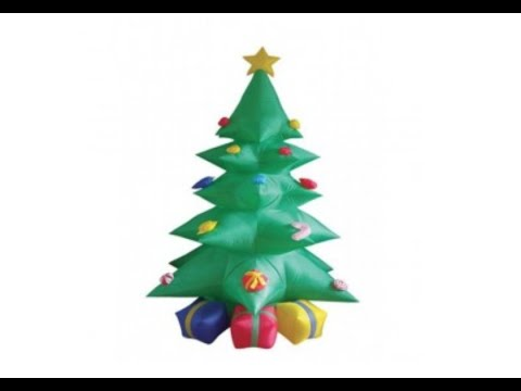 giant inflatable christmas tree 7 feet tall blowing up - Blow Up Christmas Tree
