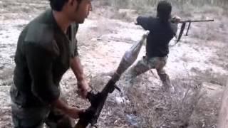ضرب حاجز للشبيحة بجانب مطار دير الزور العسكري