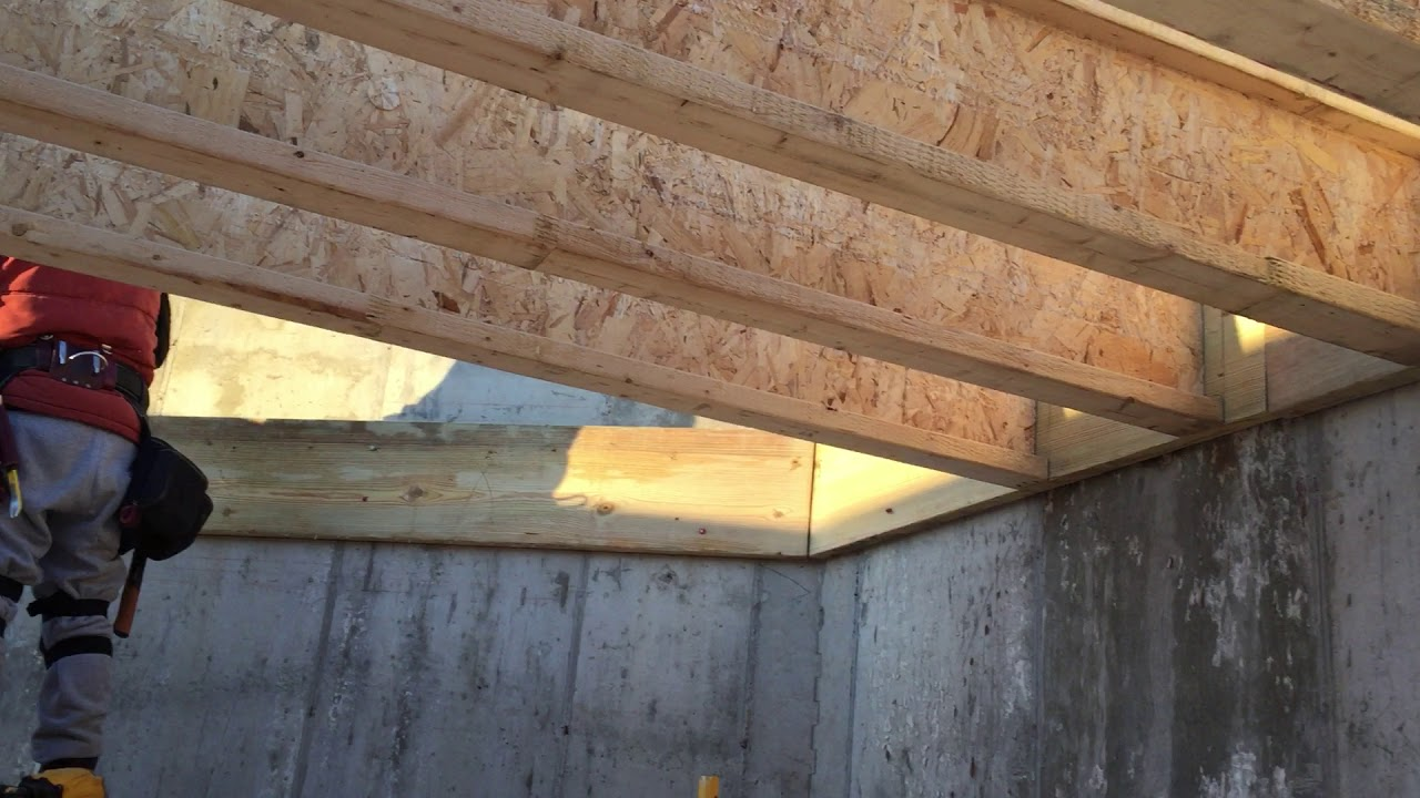Floor Joists For The Lower Ceiling Height