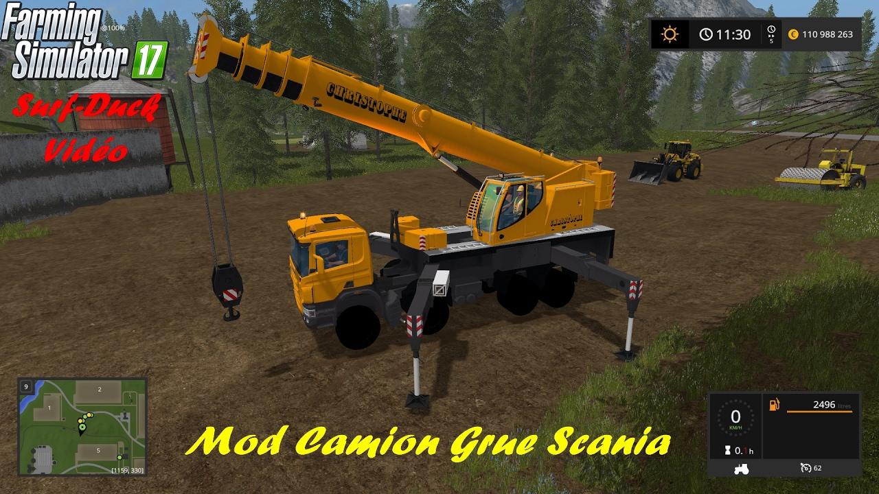 Fs17 Mod Grue Scania Ltf1060 Youtube