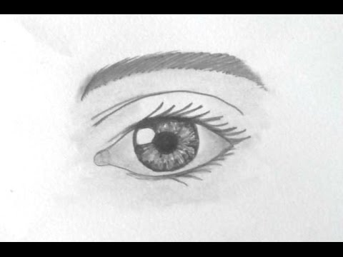 Eye Drawing - Tutorial (basic) - YouTube
