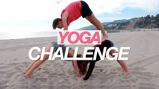 YOGA CHALLENGE ON THE BEACH