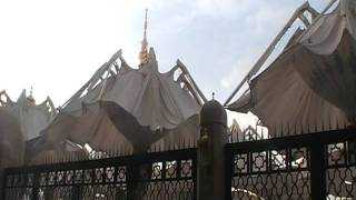 Madinah Masjid Nabawi Courtyard Umbrellas Opening