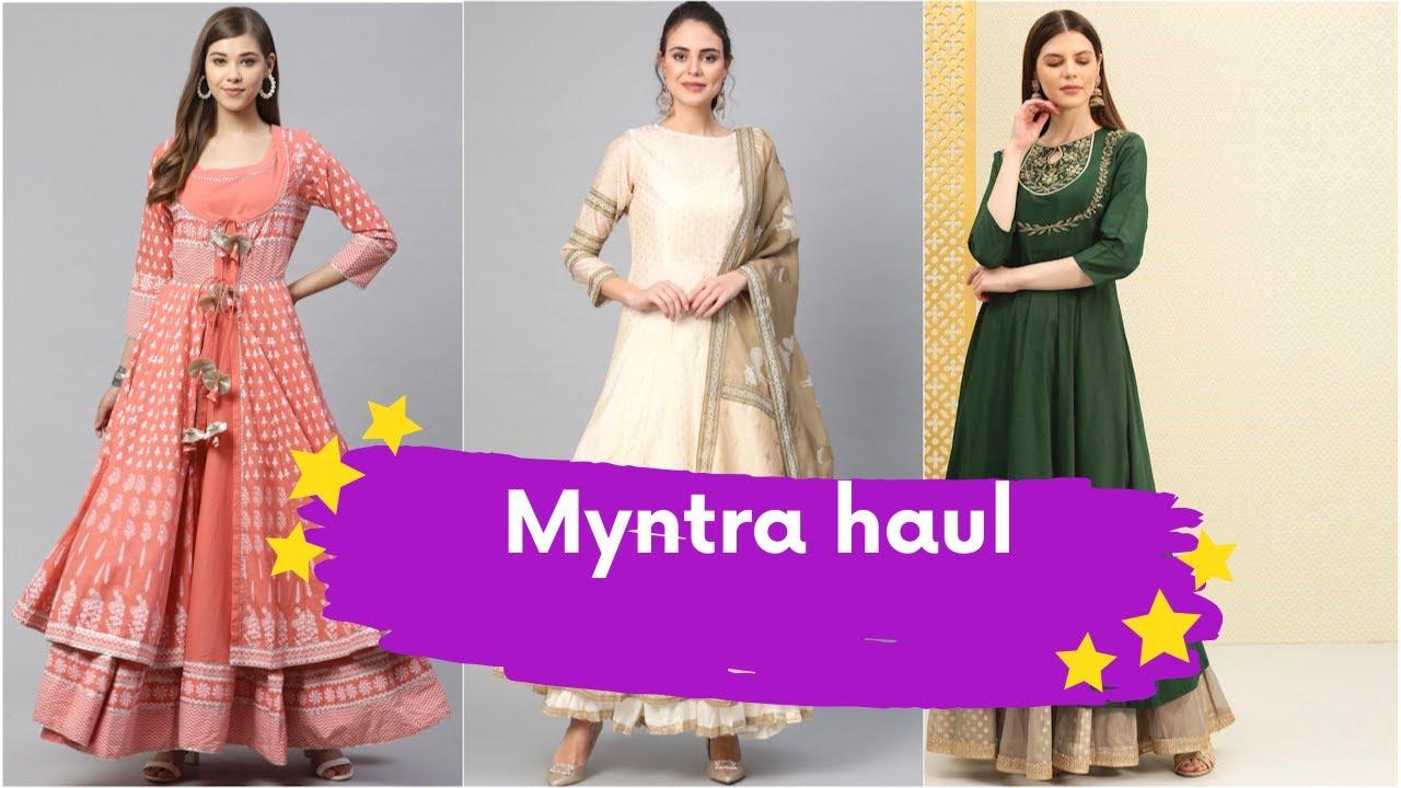 Download Mynta Haul | Latest Myntra anarkali haul |kurtis for festivals  | Indian Fashion Trends