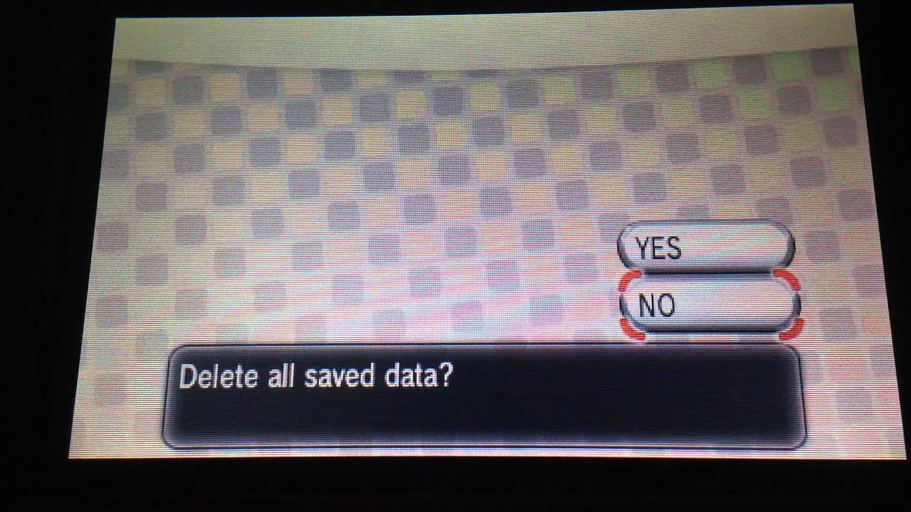 How do I start a new game? - Pokemon Alpha Sapphire Q&A ...