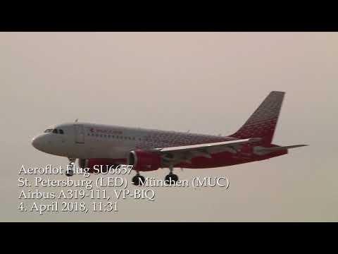 Aeroflot-Flug SU6657 St. Petersburg-München A 319