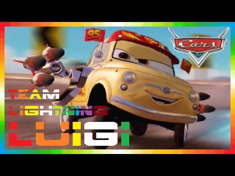 CARS 2 - Team Lightning Luigi ( Disney Game Race - Mini Movies + McQueen & Mater & Finn McMissile )