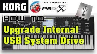 KORG Pa3X Keyboard Internal System Drive Upgrade