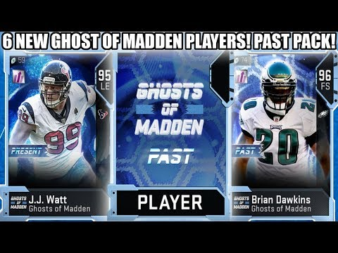 6 NEW GHOST OF MADDEN CARDS! WATT, SHOCKEY, DAWKINS AND MORE! PAST PACK! | MADDEN 19 ULTIMATE TEAM