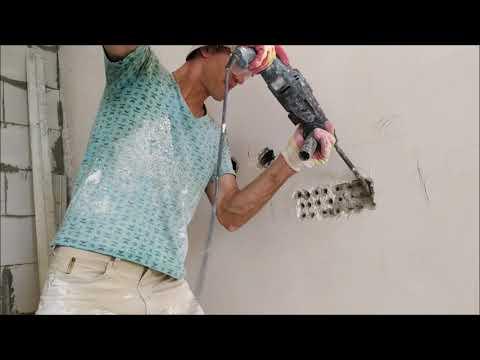Штробление стен под проводку (самый быстрый способ)