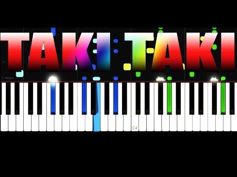 DJ Snake - Taki Taki - EASY - PIANO TUTORIAL