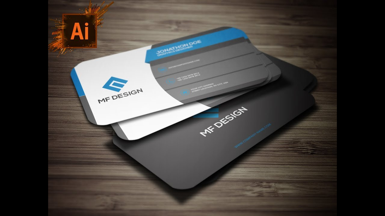 How to create business card with mockup illustrator business card how to create business card with mockup illustrator business card tutorial reheart Image collections