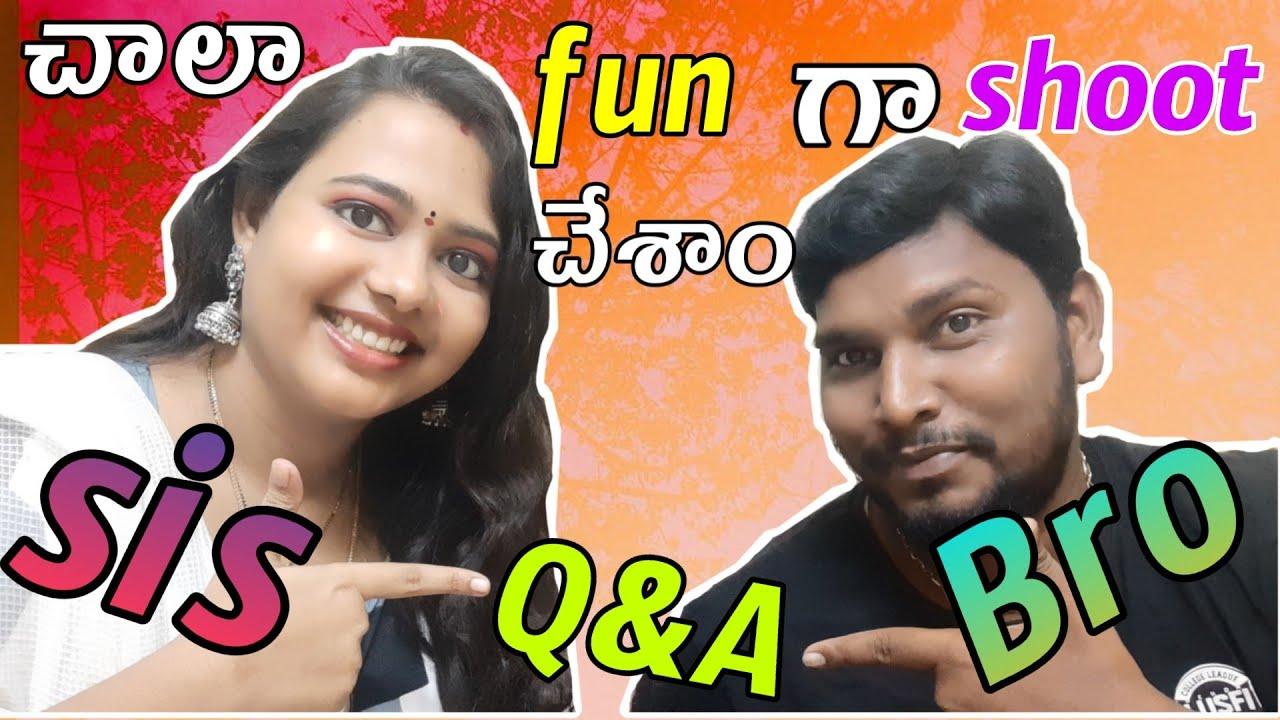 Q&A With my sweet brother || చాలా fun గా షూట్ చేశాం by BHAGYASREE