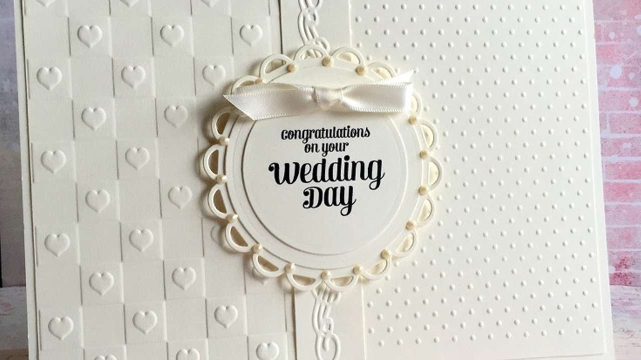 How To Make An Elegant Ivory Wedding Card Diy Crafts