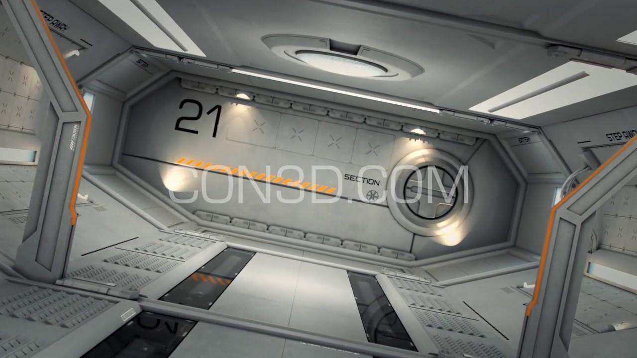 #Scifi #3d #model #spaceship spaceship corridor 3d model for download