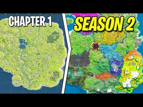 Evolution Of Fortnite MAP! [Chapter 1 To Chapter 2 Season 2 Leaked]