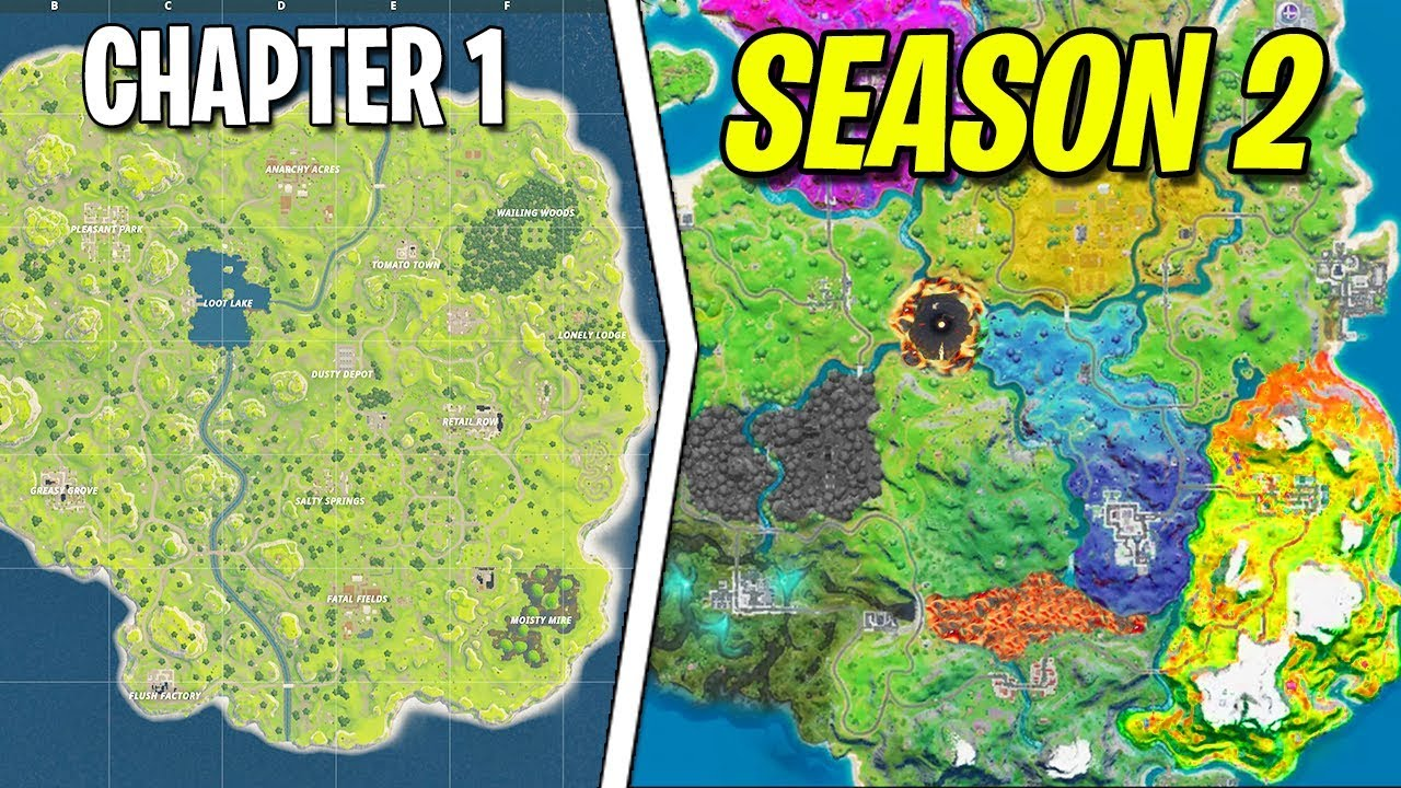 Evolution of Fortnite MAP! [Chapter 1 to Chapter 2 Season ...