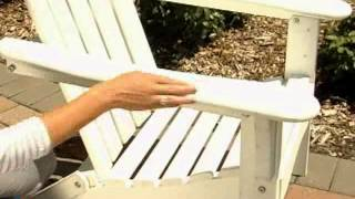 Great American Woodies Cottage Classic Folding Adirondack Chair - Product Review Video