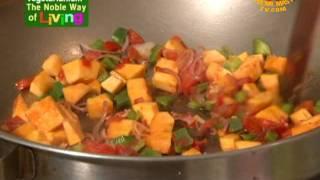Kenyan Rainbow Veggie Stir-fry With Arrowroot, Pumpkin, And Sweet Potato (in Swahili)