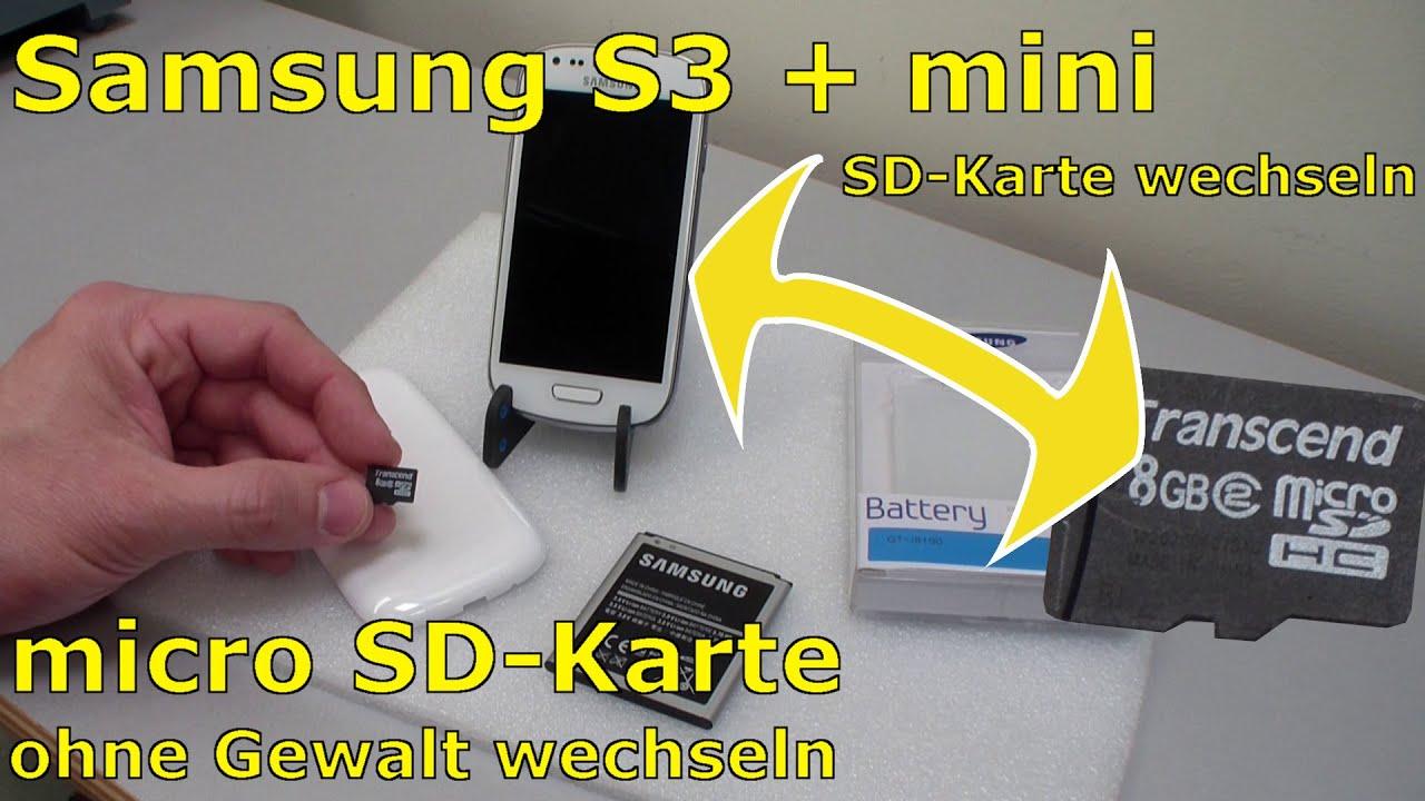 Samsung S3 Mini Sim Karte.Samsung S3 Mini Microsd Karte Ein Und Ausbauen Akku