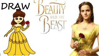 How to draw so cute Disney Belle from beauty and the beast| Easy Draw Toy Art