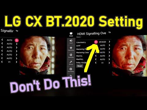 LG CX BT.2020