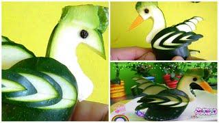 Zucchini Vịt Thiên nga Khắc Trái cây Rau khắc Trang trí Sushi Trang trí