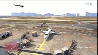GTA V (GTA 5): Jet, Plane Flying Gameplay (Xbox 360)
