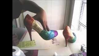 DIY: Rainbow glitter shoes P2 Thumbnail