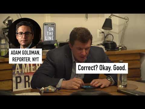 New York Times Adam Goldman Writing Hit Piece On Veritas, James O'Keefe Calls Him And He Hangs