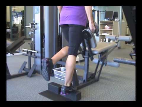 www.FitnessPTO.com - Standing One-Leg Dumbbell Calf Raises