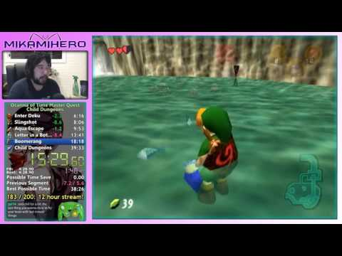 [Speedrun] Zelda: Ocarina of Time MQ Child Dungeons in 38:12