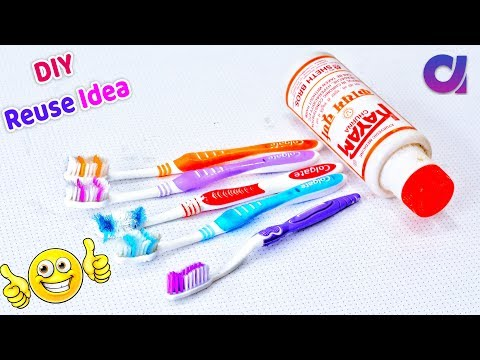 Best out of waste toothbrush and Kayam Churn bottle craft ideas   # DIY art and crafts   Artkala