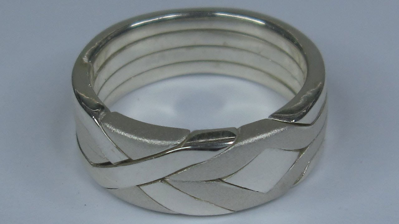 new silver solid model rings creative couple thick
