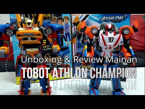 Unboxing Review Mainan Tobot Athlon Champion Ukuran Besar Robot