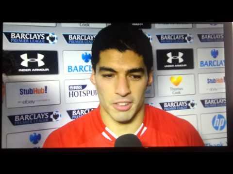 Liverpool 5 - 0 Tottenham 16/12/2013 ~ Suarez and Henderson Post Match Interview (MOTM)