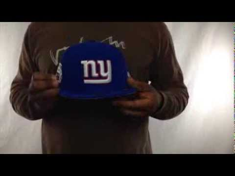 NY Giants  SIDE TEAM-PATCH  Royal Fitted Hat by New Era - YouTube 68c5b9cd8