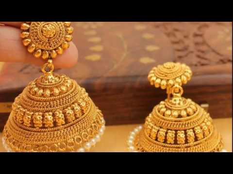 Drishti gold jhumka, viola gold earrings. Latest 2020 Design Jhumka Upto 8 Gram Youtube