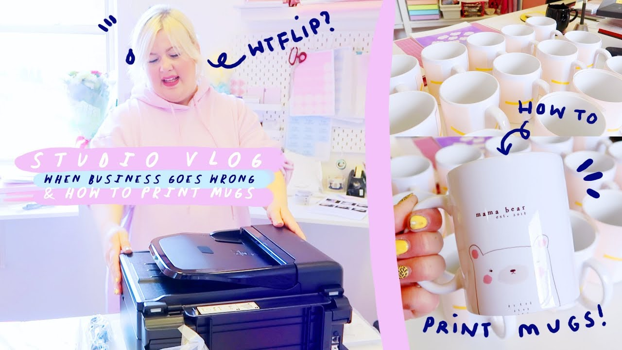STUDIO VLOG 005 : Printing Mugs | Packing Orders & When Etsy Business goes Wrong