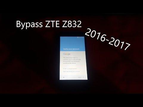 الفيديو التوضيحى لتخطى جوجل اكونت لهاتف  ZTE z832|  ANDRIOD 6..0.1  LATEST SECURITY