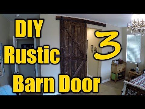 How To Build A Rustic Barn Door 3 | THE HANDYMAN |