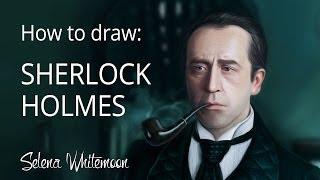 How to Draw: russian Sherlock Holmes | Как это рисовалось: Шерлок Холмс