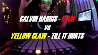 Calvin harris - 5am ft.tinashe vs yellow claw till it hurts ft.ayden [launchpad mini cover]