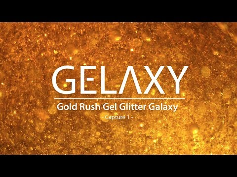 Gold Rush Gel Glitter Galaxy - Relaxing screensaver