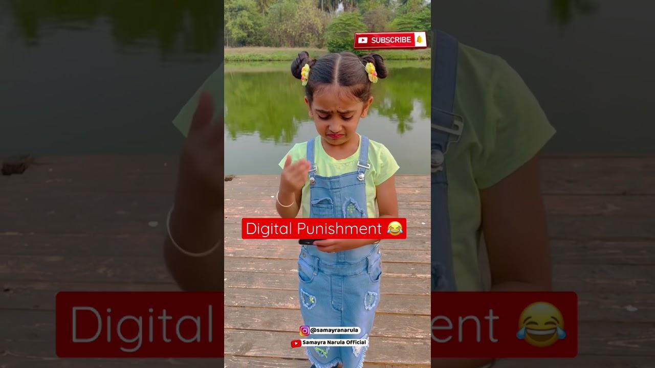 Digital Punishment 🤪 #Shorts #YouTubeShorts |Instagram I'd - samayranarula | Samayra Narula |